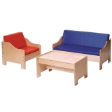 Chair, Sofa, & Coffee Table Set