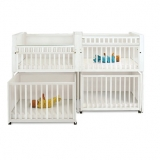 Bunkie 4-Section Stackable Crib