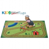 KID$ Value Line: Railroad Playtime Rug