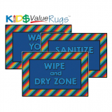 KID$ Value Line: Rainbow Stripe Command Zone Rug