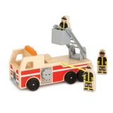 Whittle World Wooden Fire Truck Set