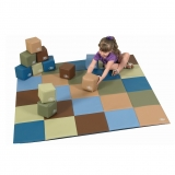 Cozy Woodland Toddler Baby Blocks and Patchwork Crawly Mat