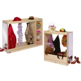Dress Up Storage Units with Mirror