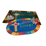God is Love Learning Rug