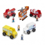 Classic Wooden Toy Vehicle Sets