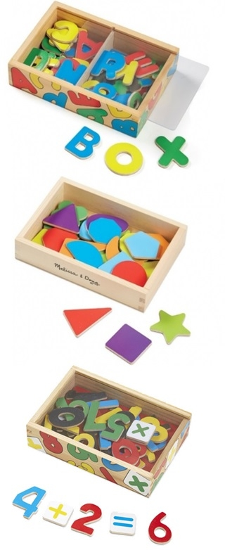 Magnetic Letters, Shapes & Numbers