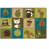 Nature's Color Collection: Friends Toddler Rug