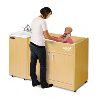 Kiddie Station Sink/Changing Table Combo