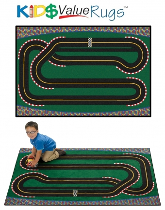 Racetrack Rug Home Decor