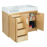 Birch Toddler Changing Table with Stairs