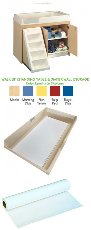 Walk Up Changing Table Reynolds Manufacturing Corporation
