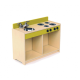 Contemporary Green Toddler Stove/Sink Combination