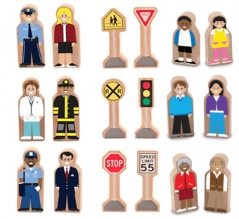 Whittle World People/Signs Wooden Set