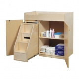 Changing Table with Enclosed Steps