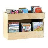 Mobile Book Storage Shelf - Birch